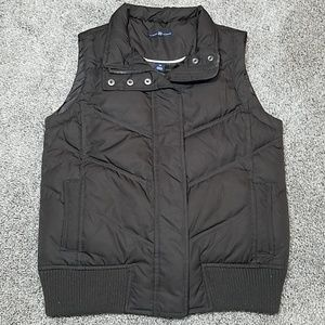 🔥 Gap Vest Down Filled Puff Chocolate Brown